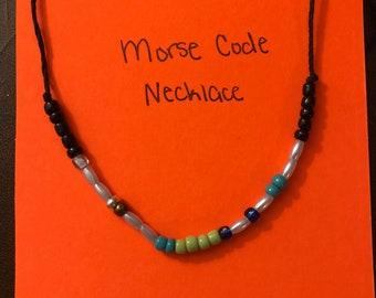 Morse Code Michigan Necklace