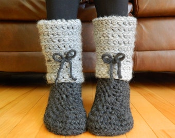 50# Boots crochet pattern, house slippers - instant download