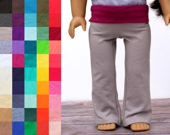 Fits like American Girl Doll Clothes - Yoga Pants, You Choose Colors | 18 Inch Doll Clothes