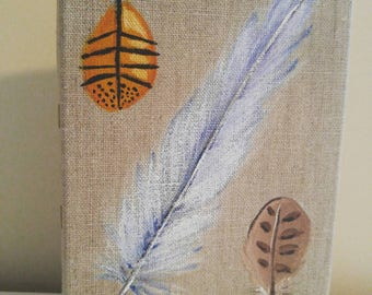 Free Spirit 3 Feather Painting 5x7