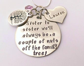 Personalised sister gift - sister necklace - sister birthday gift - sister jewellery - present for sister - birthday present for sister
