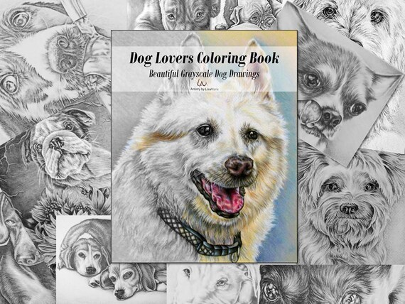 Coloring Book For Adults Pages Adult Dog Lover Page Dogs From