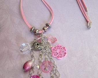 """Fantasy """"sweet pink"""" charm necklace"""