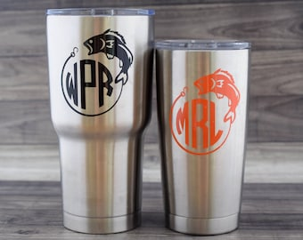 Yeti Decal - Yeti Tumbler Decal - Yeti Fish Decal - Yeti Fishing Decal - Yeti Decal for Men - Yeti Cup Decal - Fish Decal