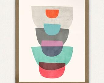 8x10 Abstract #1 Stack - Printable Art