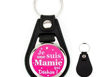 Keychain leather Granny tearing