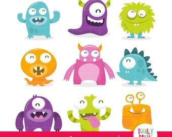Little Monster Clip Art / Little Monster Clipart / Cute Monster Clipart / Cute Monster Clip Art / Monster Clipart / Monster Clip Art