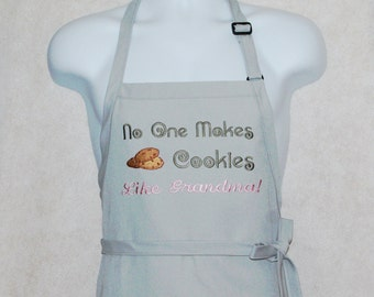 Grandma Apron, No One Makes Cookies Like, Nana MeMaw Grammy Oma, Embroidered Personalized With Name, Ready To Ship TODAY AGFT 138