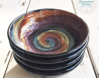 Ceramic Pasta Bowl, Ceramic Salad Bowls, Pottery Bowl