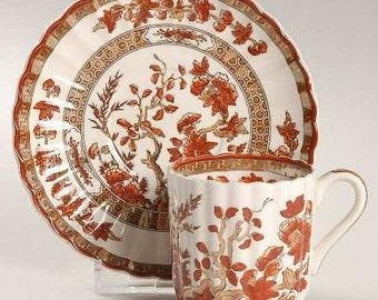 Vintage Spode Indian Tree Demitasse Cup & Saucer Lustre with Fluted Design