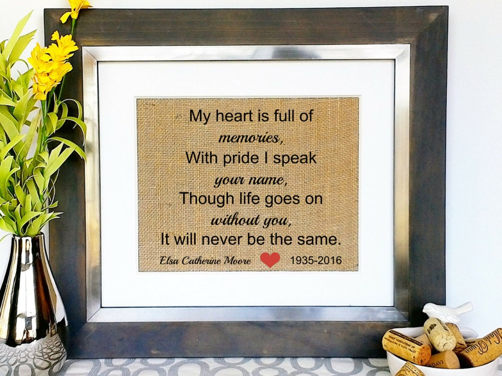 In Memory Of Loved One Sympathy Condolence Gift Memorial Gifts