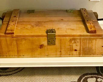 Antique Ammo Box, Wood Ammo Box, Wooden Box, Rustic Decor