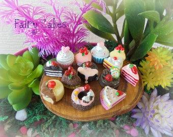 Fairy Cakes (5 Assorted Pieces) Fairy Garden Accessory