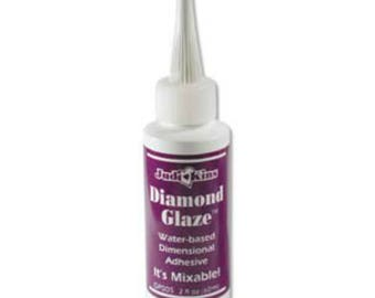 2 OZ Diamond Glaze Water Based Dimensional Adhesive Jewellery Craft Glue