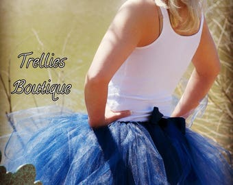Navy Blue Adult Tutu Skirt- Adult Tutu Skirt- Maternity Tutu Skirt- Mommy and Me Tutu