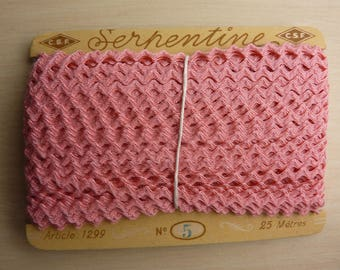 SERPENTINE STRIPE CROQUET 25 M LONG PINK RIBBON N ° 5