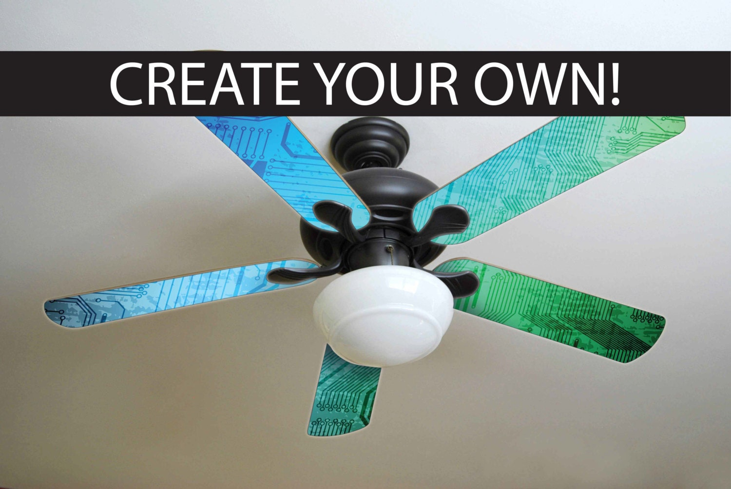 Custom ceiling fan blades made just for you zoom aloadofball Images