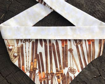 Dog Bandana- WOODEN SKIS Badass Bandana- Retro Resort Neckwear for your Badass Dog