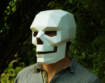 Skull Mask- easy to make and perfect for Halloween