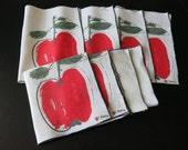 Vintage Vera Placemats Napkins Red Apple 467+