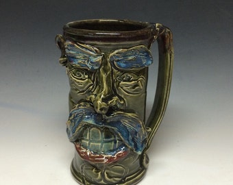 40oz schnoz n mustache stein mug - includes shipping