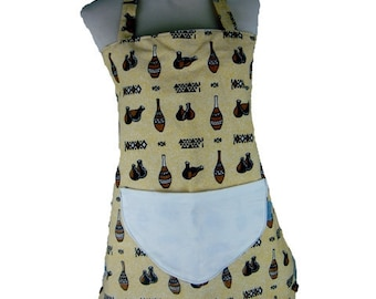 2 in 1 in African fabric apron