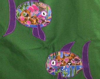 Two Fish Tote Bag - Range of colours