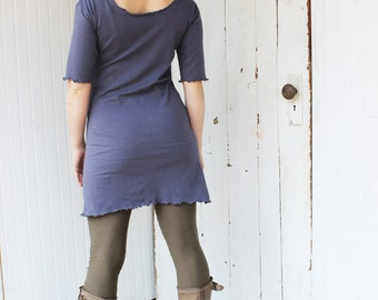 Organic Tunic T Shirt Dress - Many Colors Available