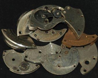 Destash Steampunk Watch Clock Parts Movements Plates Art Grab Bag RD 88