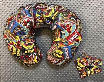 Superhero Boppy Cover & Bandana Bib Gift Set