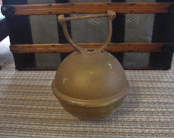 REDUCED...Rare Antique Milo Duplex Circus Strong Man Kettlebell Kettle Bar Bell Weight