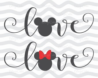 Love disney svg, Love disney dxf, Love disney cut, Love mickey svg, Love mickey dxf, Love mickey cut, Valentine's day svg, Mickey svg