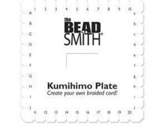 Kumihimo Plate,  Square Braiding Plate, BeadSmith
