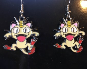 Pokemon Meowth Earrings   L47