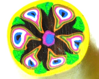 Fimo polymer clay millefiori cane nail art by orly
