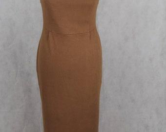 Vintage brown dress,