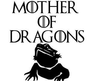 Mother of Dragons Bearded Dragon Decal
