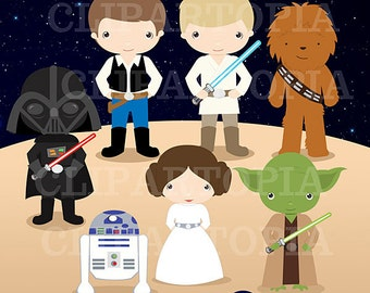 Space Wars Digital Clipart / Star wars Digital Clip art For Personal and Commercial Use / Instant Download