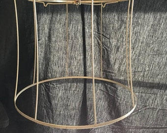 35% OFF SALE Vintage drum shade wire frame farmhouse industrial chic craft supply display