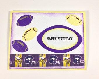 Minnesota Vikings Card,Minnesota Vikings birthday card,Birthday card for Minnesota Vikings fan,Minnesota Vikings party,Minnesota Vikings fan