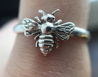 Sterling Silver Bumblebee Ring
