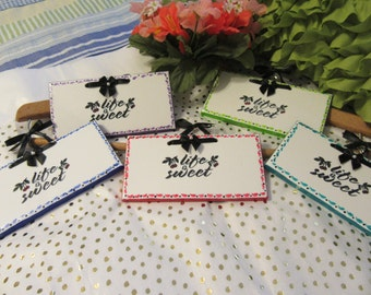 Affirmation Ceramic Tiles Unique One of A Kind Hand Painted LIFE IS SWEET Choice of Colors Great Gift for Children Teens Wall Art Ornament
