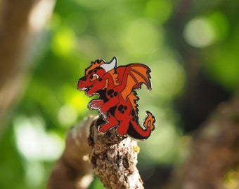 Fire Dragon Hard Enamel Pin
