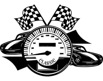 Checkered Flag 3 Skull Superbike Motorcycle Car Truck Nascar