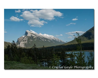 Rocky Mountain Photography, Canadian Landscape Picture, Unframed Lake House Wall Art, Blue Bathroom Picture, 8x10 8x12 11x14 12x18 Inch