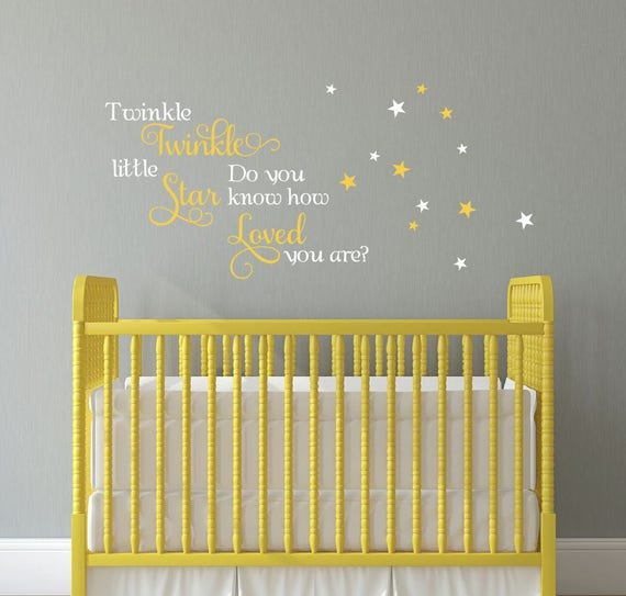Quote Twinkle little star decal Decals for Walls Little Girl