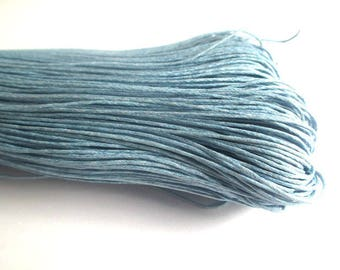 10 meters of light blue waxed cotton thread 0.7 mm