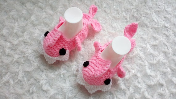 Pink crochet baby shark slippers crochet baby booties for baby like this item dt1010fo