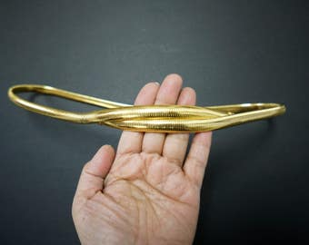 "70s 80s gold overlap belt . 35"" - 36"" length"