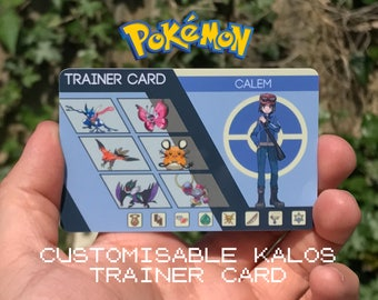Custom Pokémon Trainer Card [Kalos Design]